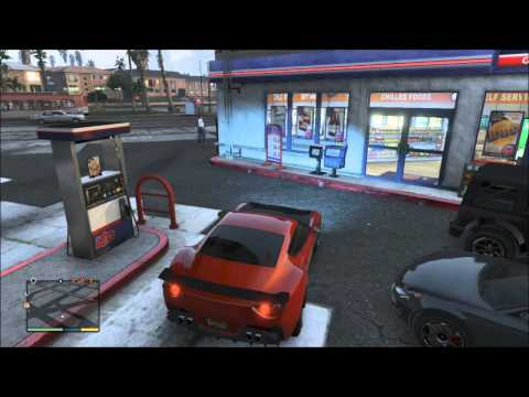 GTA 5 / Robbing a store(Gas Station)