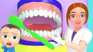 Baby Dental Care Song | Brush Teeth Twice | 3D Doctor Nursery Rhymes & Kids Songs