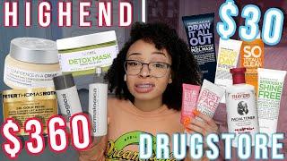 Testing HIGHEND vs. DRUGSTORE Skincare! | aliyah simone