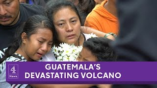 Search for family as Guatemala's volcano erupts