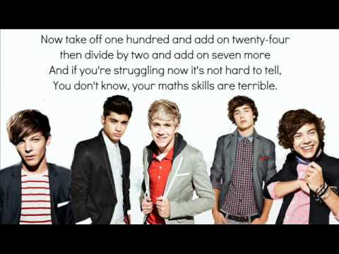 The Math Song - One Direction Lyrics ;)