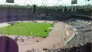 David Weir Victory Ceremony (1500m) Paralympic London 2012