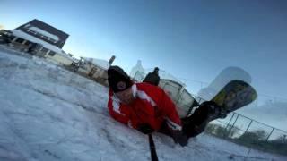 Первая доска (my first snowboarding)