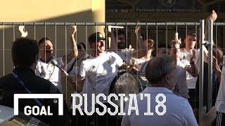 World Cup 2018: Argentina stars play drum for singing fans