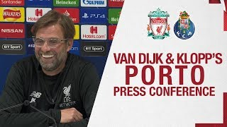 Klopp & Van Dijk's Champions League press conference | Liverpool v Porto