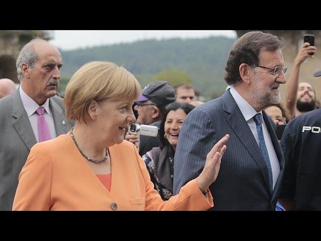 Испания: Меркель в Галисии встретили протестами