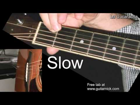 LA CUCARACHA:  Easy Guitar Lesson + TAB by GuitarNick