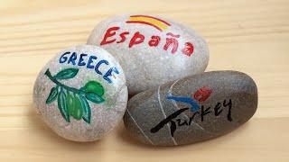 Gifts from the sea, painted pebbles. Морские сувениры своими руками, рисунки на камнях легко.