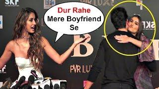 Disha Patani Gets Jealous Of BF Tiger Shroff Hugging Tara Sutaria At Bharat Movie Premiere