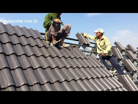 Excellent building skills - how to make tile roofs for newcomers