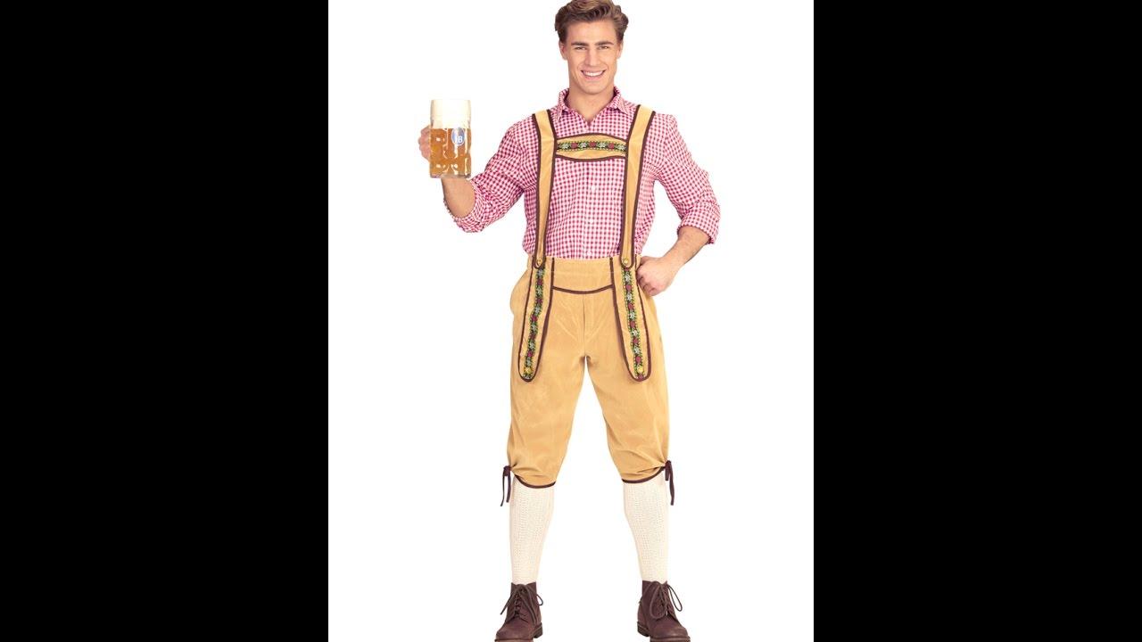 Férfi jelmez Bajor világos színű nadrág