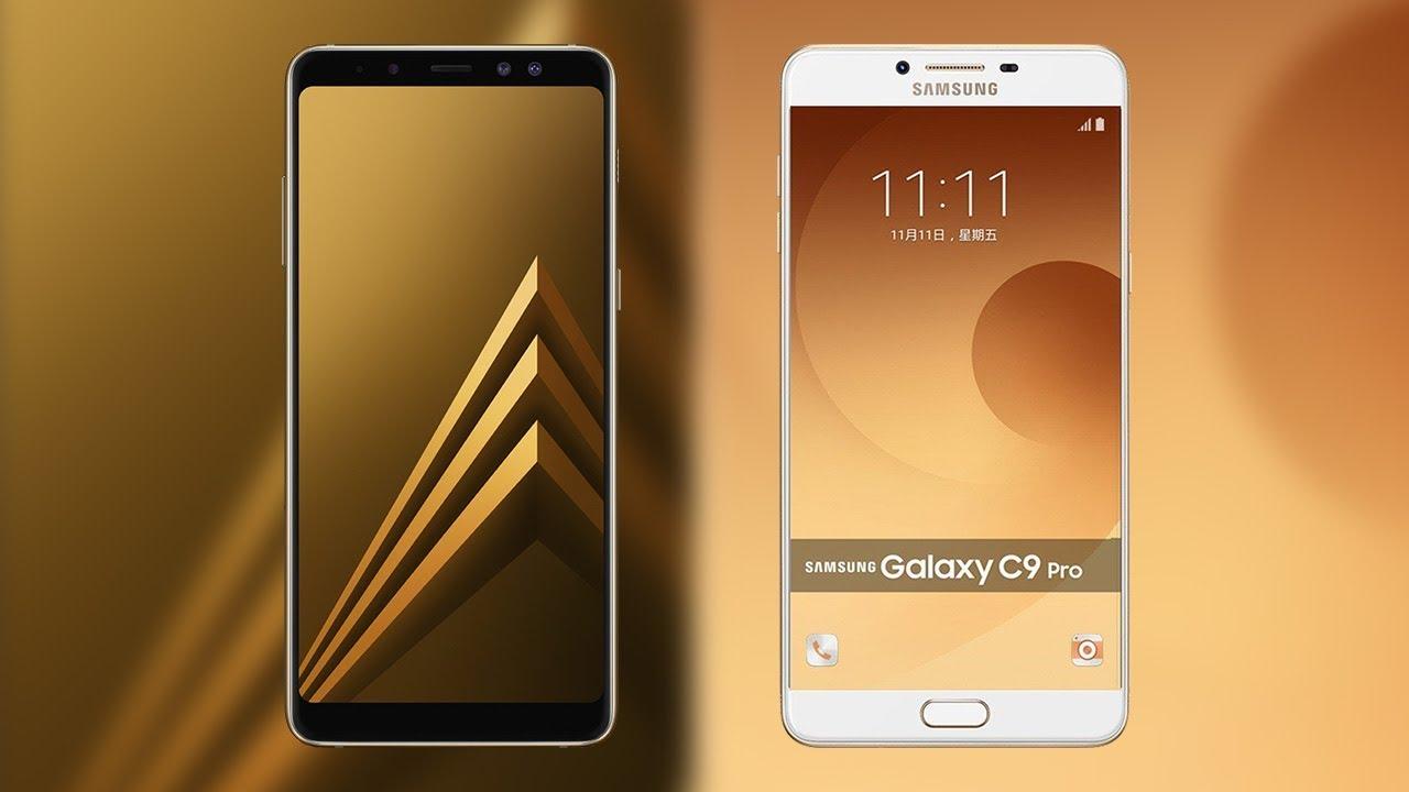 Samsung Galaxy A8 Plus 2018 Vs Galaxy C9 Pro Comparison Youtube