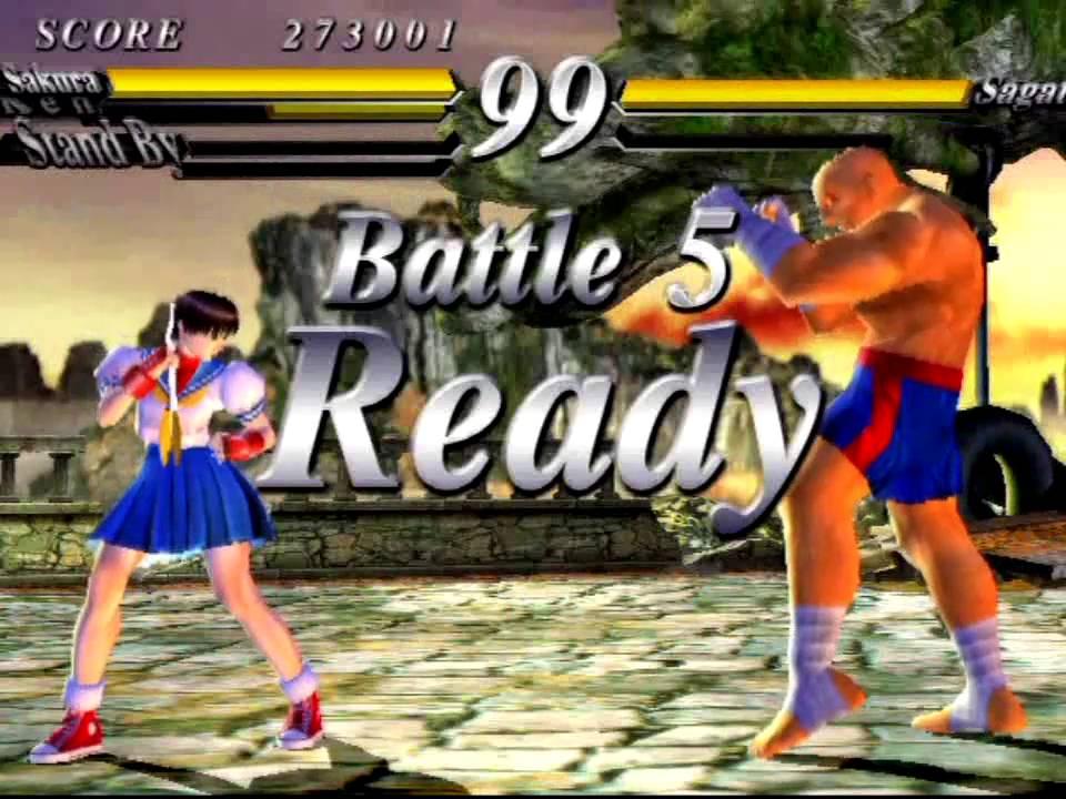 Street Fighter Ex 3 Playstation 2 Original Mode As Sakura Youtube