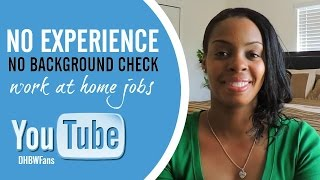 No Experience, No Background Check Online Jobs
