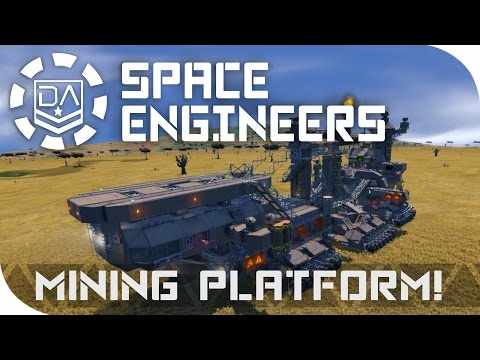 Space Engineers Spotlight   'Mobile Mining Platform' By Extevious-V