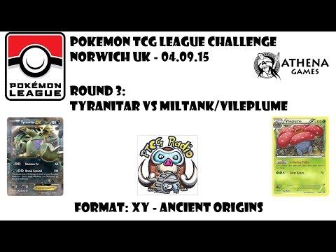 Pokémon TCG League Challenge: R3: Tyranitar vs Vileplume / Miltank (Ancient Origins Legal!)