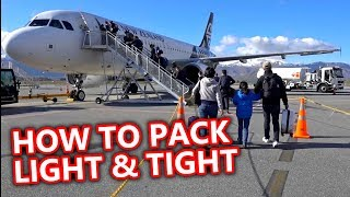 How To Pack Light & Tight for Snowboard Trips