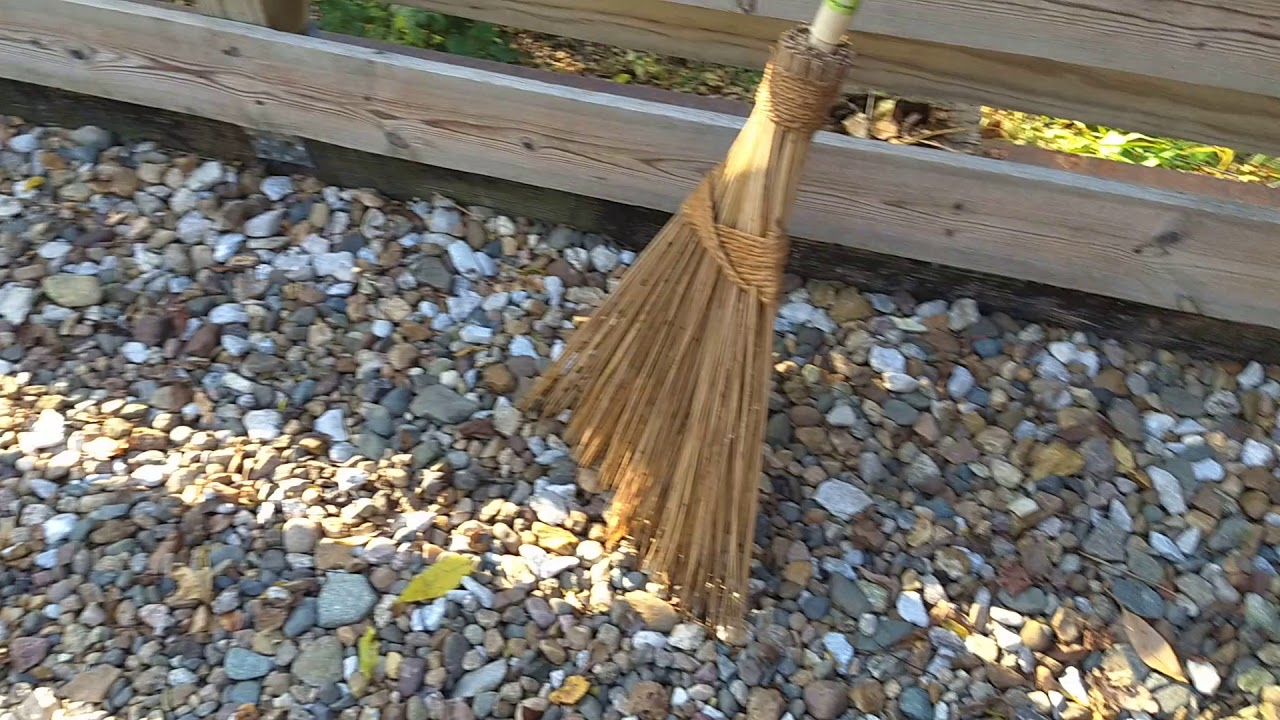 Shop Vac Original Garden Broom To Remove Leaves From A Rock Driveway Youtube
