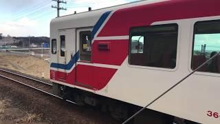 田老駅にて三陸鉄道36形気動車(36-700形)どうしの列車交換