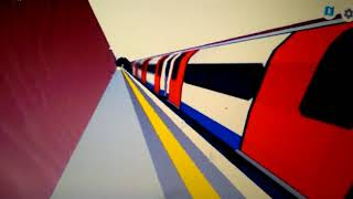 Roblox new MTG London underground deep level northern line 1995 tube stock arriving leaving downing