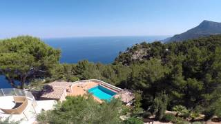Aerial property video in Valldemossa, drone