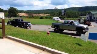 Tug Of War Ford Raptor Vs. Chevy Duramax