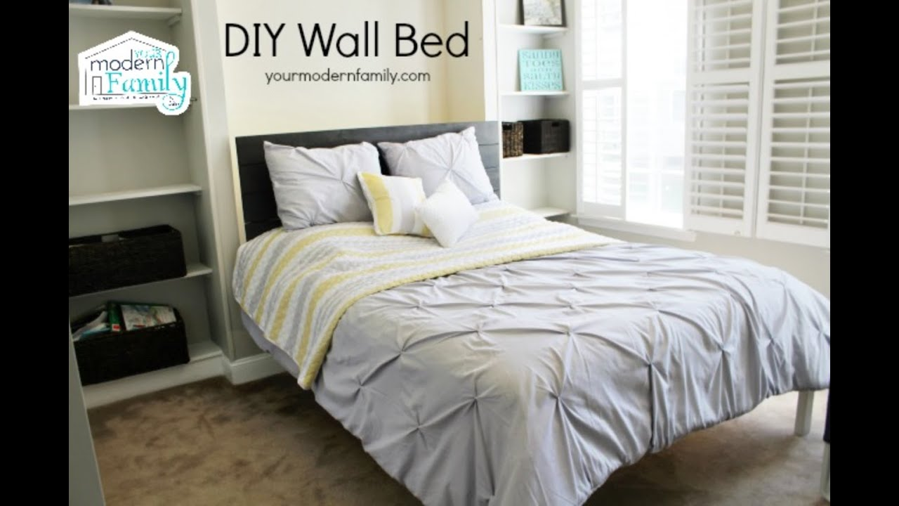 Gas Lift Storage Bed Ikea Easy To Build Diy Wall Bed For 150 Queen Murphy Bed
