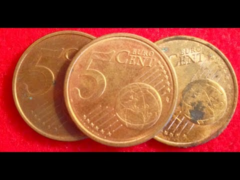 5 Euro Cent Coins Of Germany Dated 2002