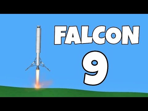 Falcon 9 Realistic Flight with Landing Legs // Spaceflight Simulator