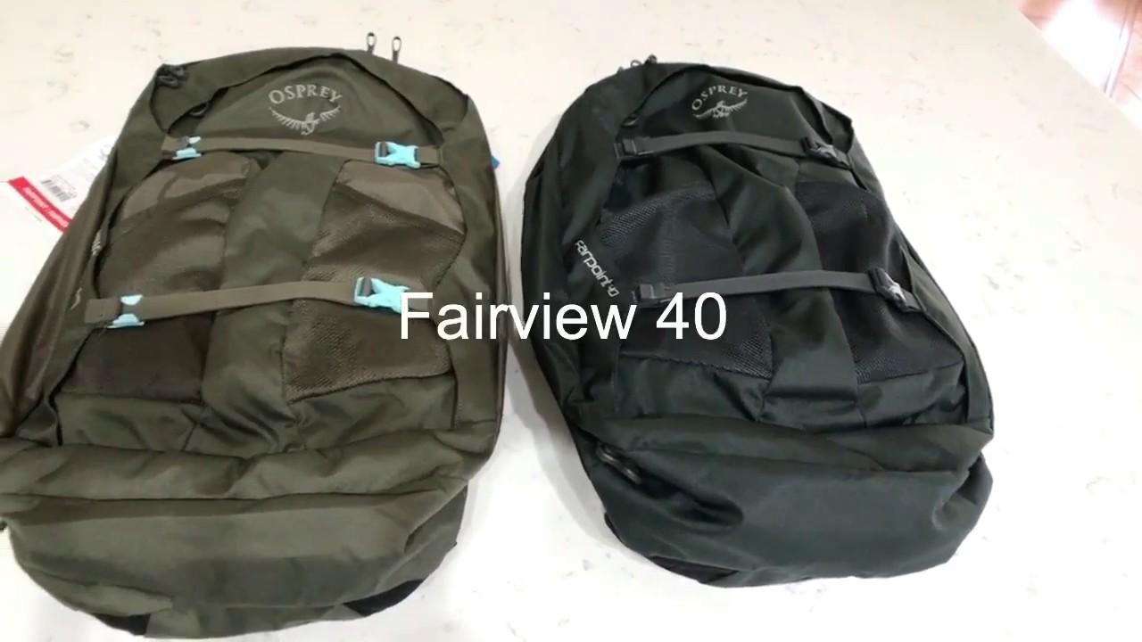 nouvelle arrivee 6a6df 8d736 Osprey Fairview 40 and Farpoint 40 Comparison
