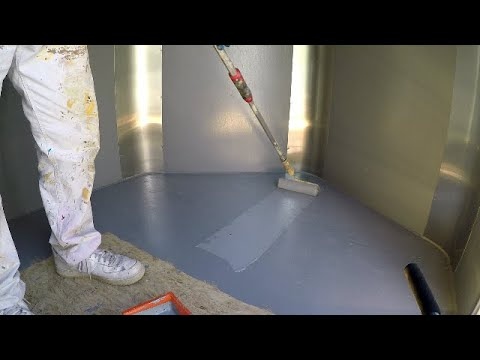 Expoxy painting my Enclosed Trailer