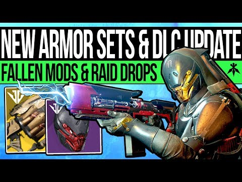 Destiny 2 | NEW ARMOR SETS & SCOURGE WEAPONS! Trials Update, Fallen Mods, Raid Gear & Collectables!