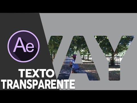After Effects TEXTO TRANSPARENTE
