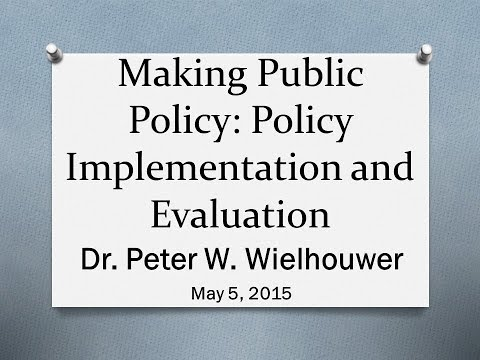 Making Public Policy (May 2015)