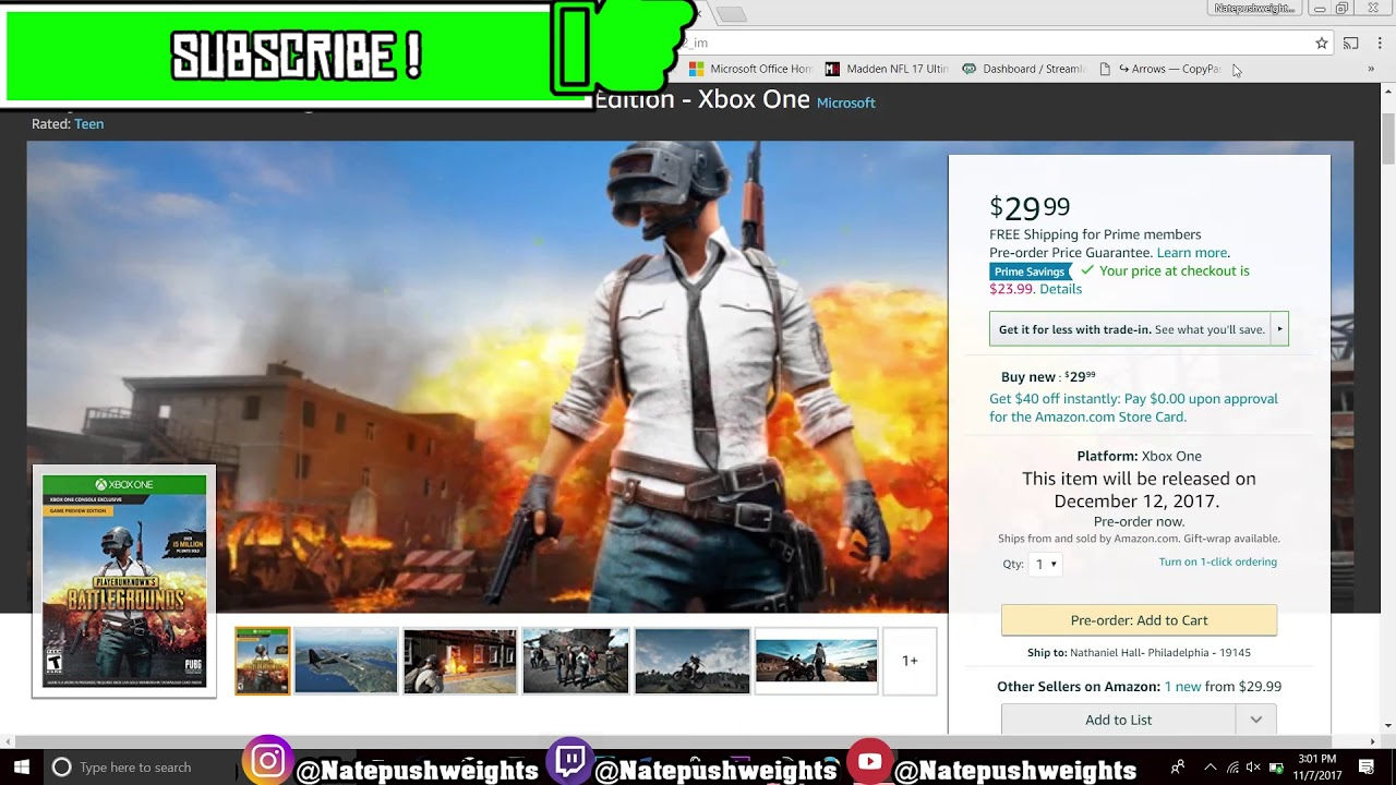 Official Price For Player Unknown Battlegrounds Pubg Xbox One