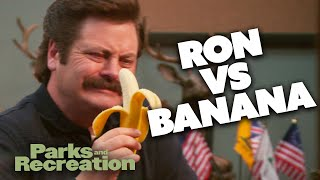 Ron Swanson Vs A Banana | Parks and Recreation | Comedy Bites