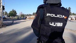 Actuación policial en el asentamiento chabolista del Vacie (Sevilla)