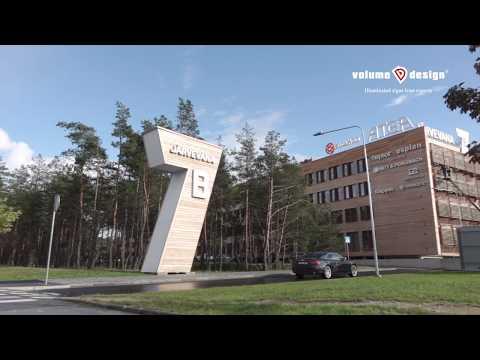 Valgustähtede tootmine ja paigaldus Järvevana 7B ärimajale