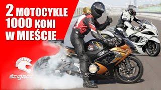 2 motocykle 😈 1000 koni 😈 w mieście 😈 Suzuki GSX-R i Hayabusa Turbo - da się?