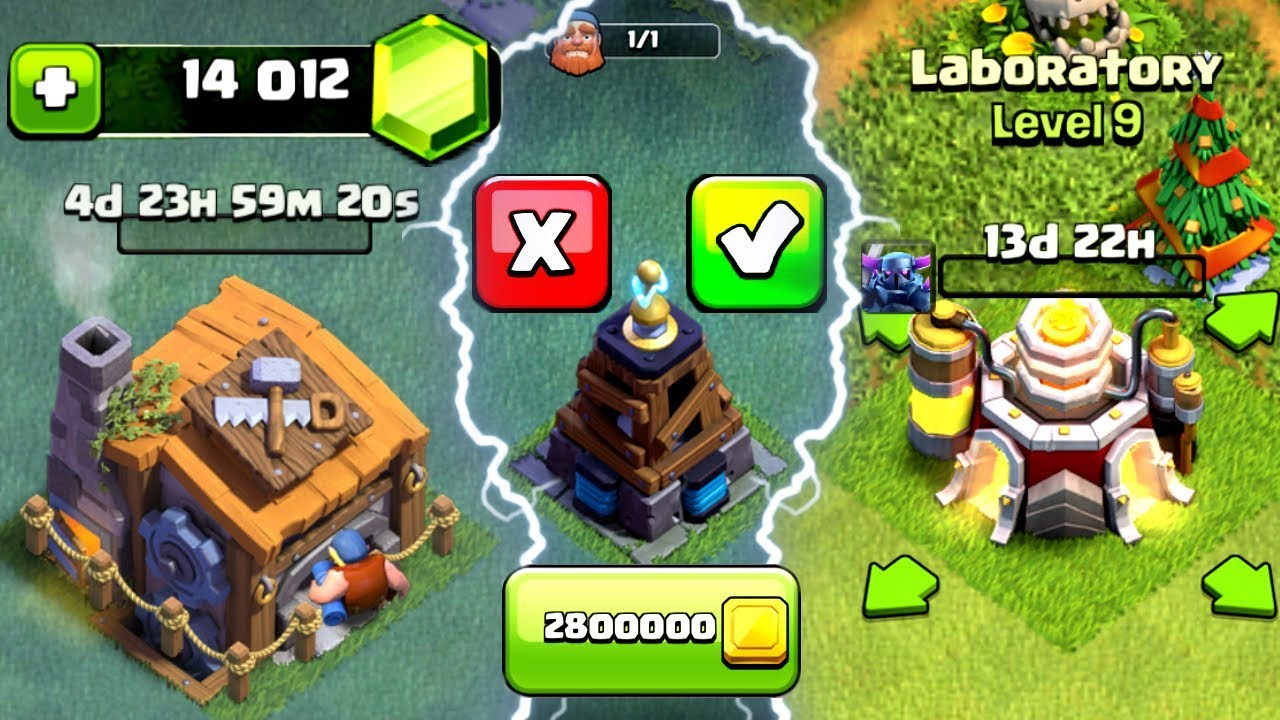Gemming The New Update In Clash Of Clans Unlocking Builders Hall  New Level Troops