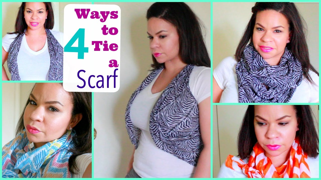 Cute Ways To Tie A Scarf Dollar Tree Scarf Turned Into A