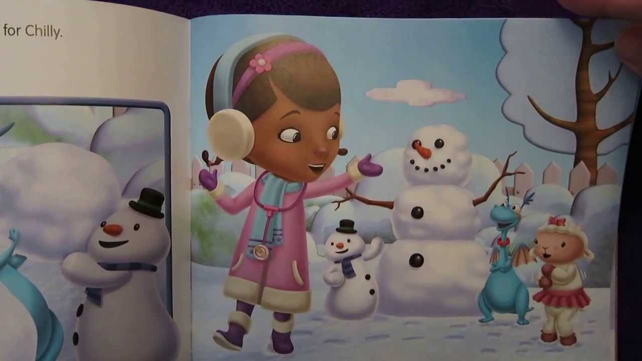 Doc McStuffins Chilly Catches a Cold Read aloud guided reading story for early childhood