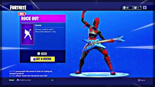 "*NEW* ""Rock Out"" Dance Fortnite! (Rock Out Emote in Fortnite) + Fortnite Item Shop Today!"