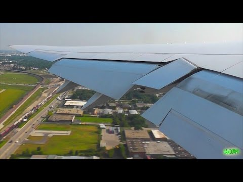 Lufthansa 747-8 Beautiful Taxi, Takeoff and Climb from Chicago O