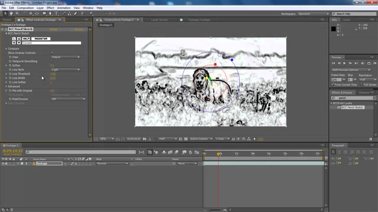 Line Art After Effects : How to animate a line drawing in after effects howsto