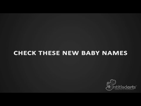 NEW BABY NAMES 2017