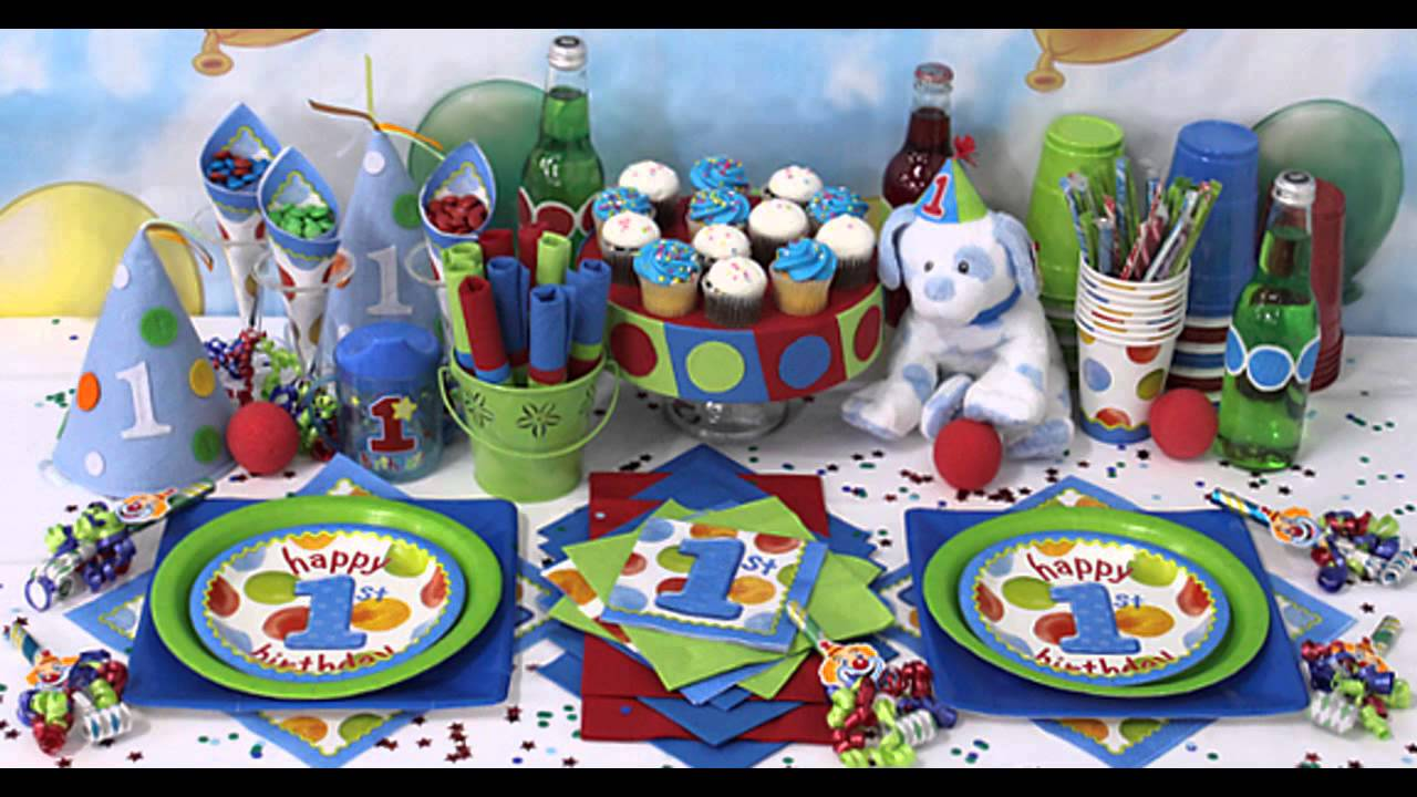 Boy birthday party themes decorations at home ideas youtube for Simple party decorations at home