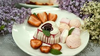 Панна-котта. Простой десерт с клубничным вкусом без выпечки на конкурс Энди Шефа #ХочуРозовыйМиксер