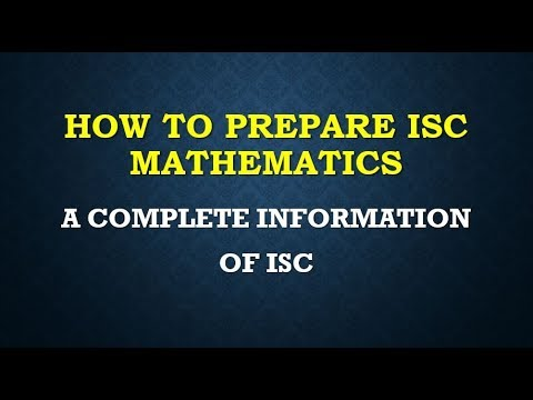ISC MATHEMATICS 2017 PART 3 COMPLETE SOLUTION NOTES LECTURE SERIES ONLINE CLASSES
