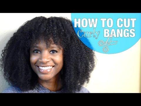 How To Cut Curly Bangs Natural Hair Nik Scott Youtube